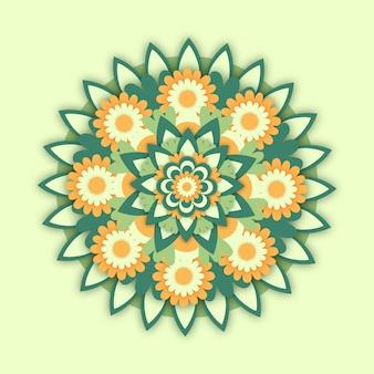 Плоское цветочное оформление