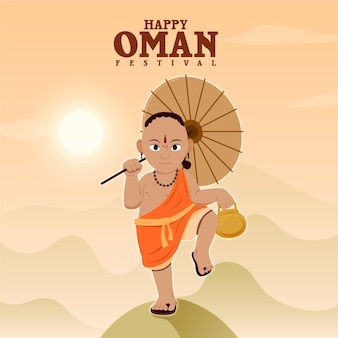 Flat onam illustration concept
