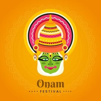 Плоская концепция иллюстрации onam