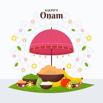 Плоская иллюстрация onam