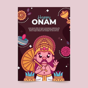Flat onam poster concept