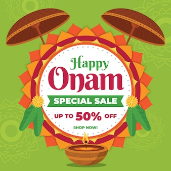 Flat onam sales background