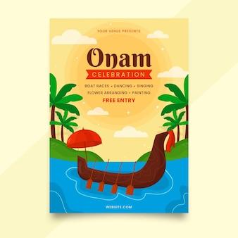 Плоский шаблон вертикального плаката onam