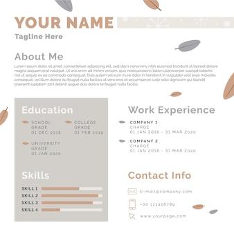 Curriculum vitae online piatto
