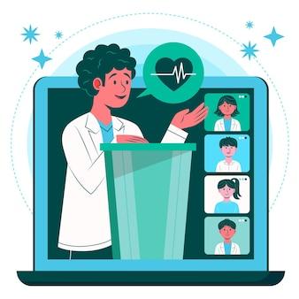Flat online medical conference