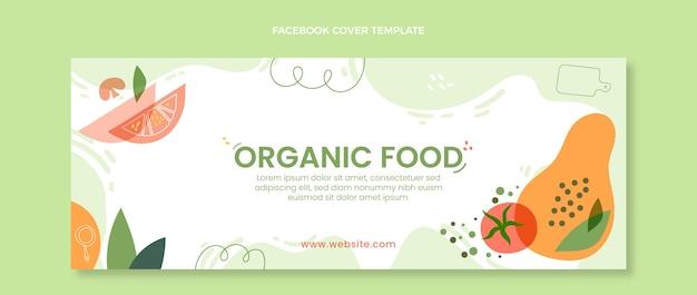 Flat organic food facebook cover