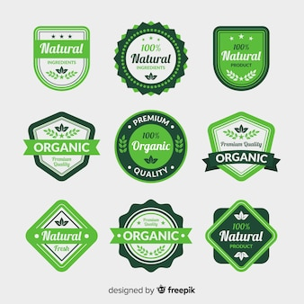 Flat organic food label collection