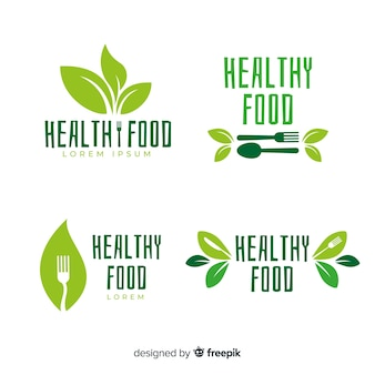 Flat organic food label pack