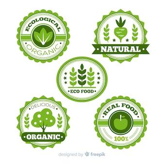 Flat organic fruit label set