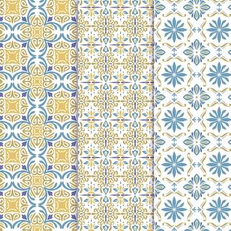 平装饰阿拉伯模式集合