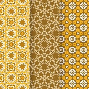 フラット装飾アラビアパターンコレクション