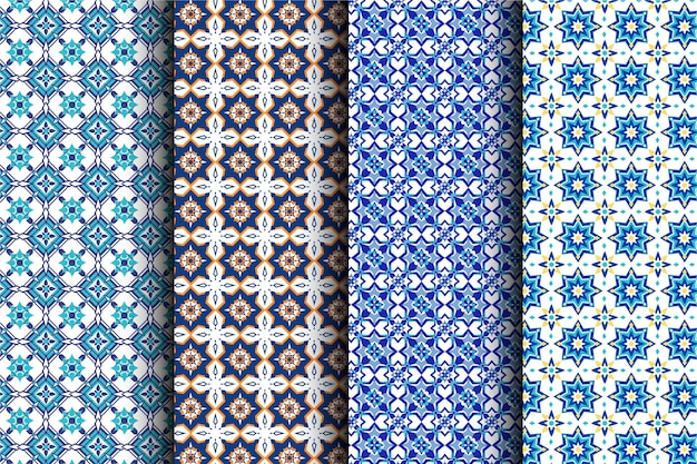 Collezione di modelli arabi ornamentali piatti
