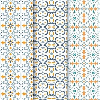 Flat ornamental arabic pattern pack