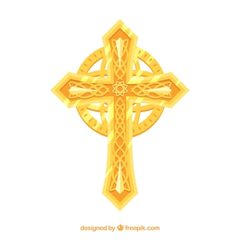 Flat ornamental cross
