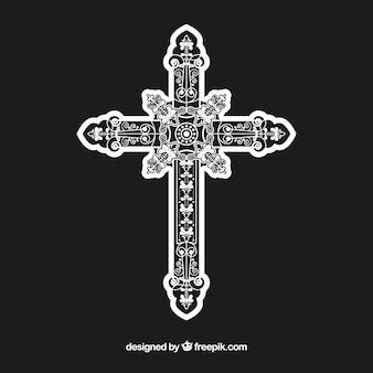 평평한 장식용 십자가