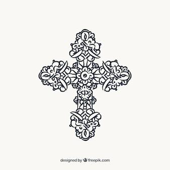 Flat ornamental cross