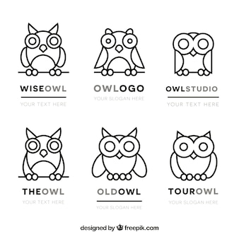 Коллекция логотипов сова