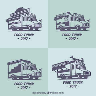 Flat pack of actual food truck logos