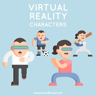 Flat pack di caratteri che utilizza la realtà virtuale