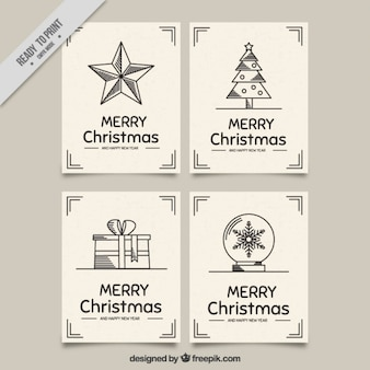 Flat pack of christmas greeting cards