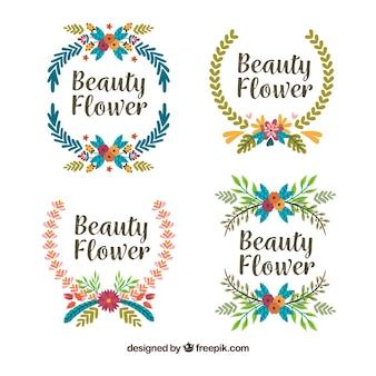 Pacchetto rettangolare di cornici floreali carine