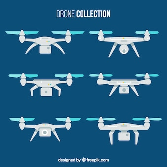 Flat pack of drones