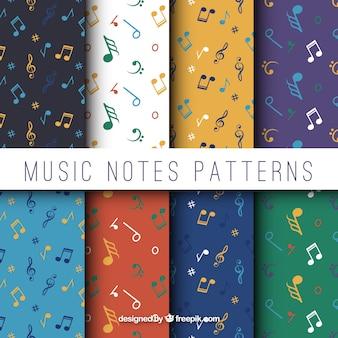 Pacchetto piano di otto modelli con note musicali