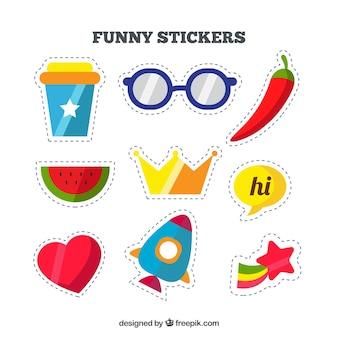 Flat pack of fun stickers