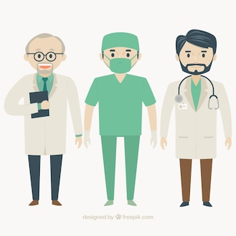男性医師のフラットパック