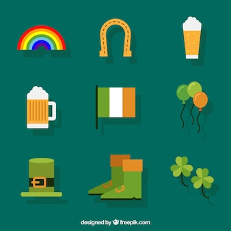 Flat pack of st patrick's day elements