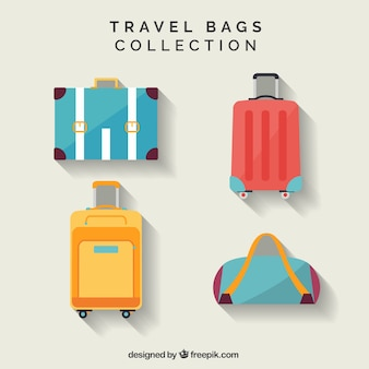 Flat pack of travel bags