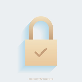 Flat padlock background