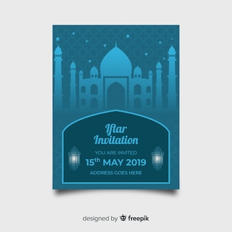 Flat palace iftar party invitation