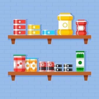 Flat pantry illustration