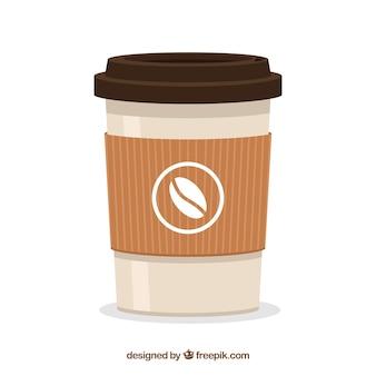 フラット紙コーヒーカップの背景