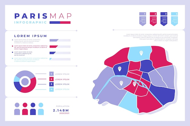 フラットパリマップのインフォグラフィック