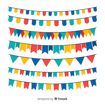 Flat party garland set