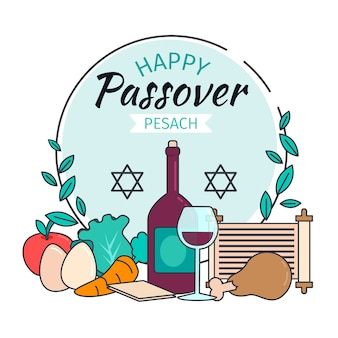 Flat passover pesach
