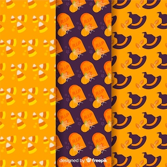 Flat pattern collection with halloween accessories