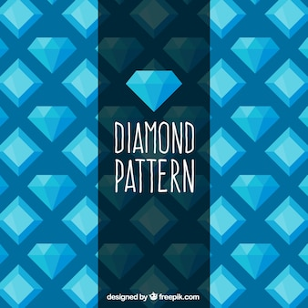Плоский рисунок алмазов в голубых тонах