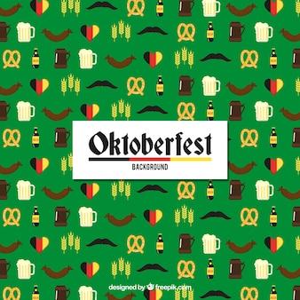 Flat pattern with oktoberfest elements