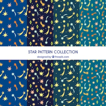 Flat patterns collection with stars