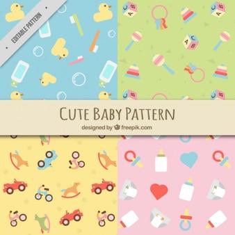 Плоские шаблоны с детскими элементами