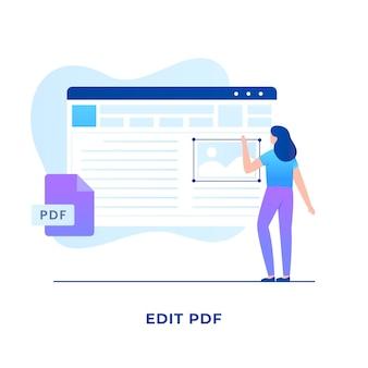 フラットpdf編集ファイルの概念。