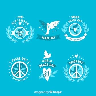 Плоская коллекция дня мира