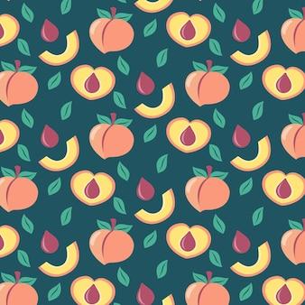 Flat peach pattern illustrated
