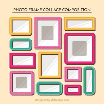 Collage di foto cornice piatta