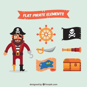 Плоские пиратские элементы