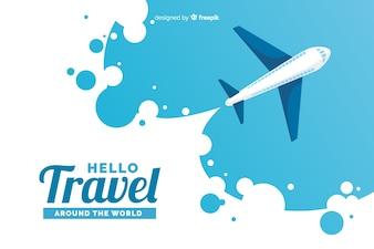 Flat plane background