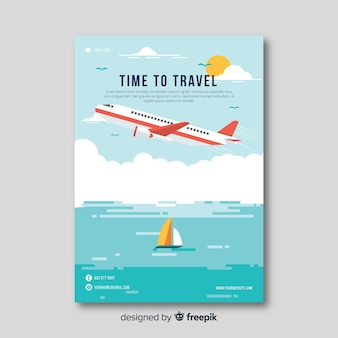 Flat plane travel flyer
